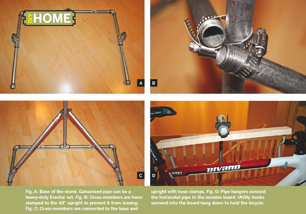 DIY bike repair stand