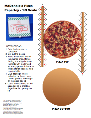 If You Can Cut And Fold Paper You Can Make These Papercraft Pizza