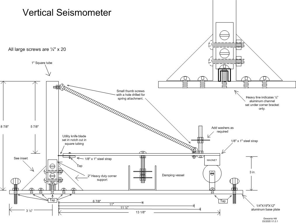 What are parts the of a seismograph?