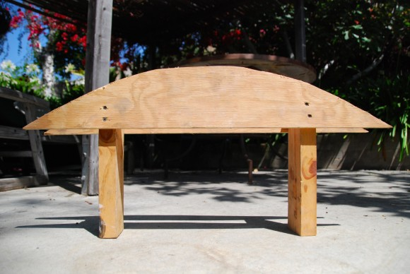 Template For The Temporary Brick Pizza Oven Arch How To Determine