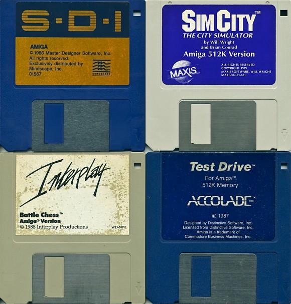 Amiga Games SDI Sim City Battle Chess Test Drive