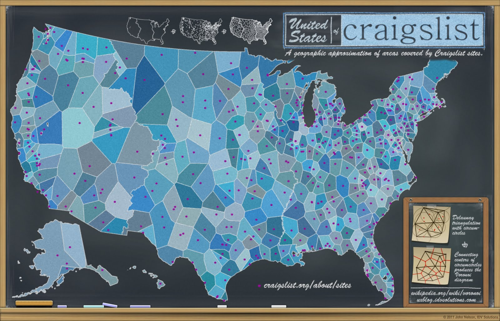 The United States of Craigslist Map   DO IT: Projects, Plans and
