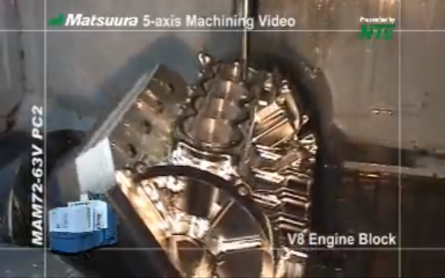 Video Fun: V8 Engine Block Machined From Solid Aluminum on a