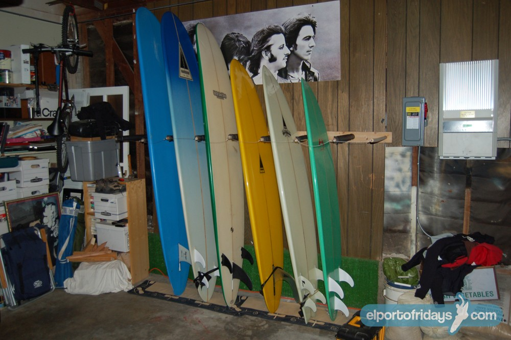 Vertical Surf Rack On The Cheap El Porto Fridays