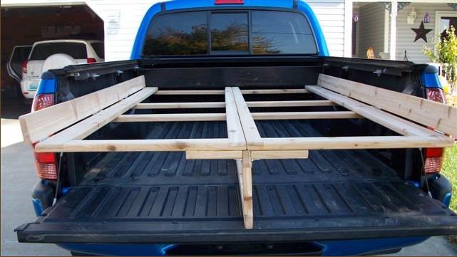 Diy Folding Plywood Rack For Tacoma Pickups Do It
